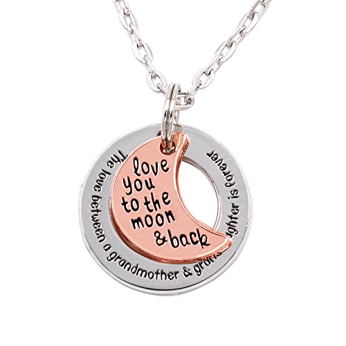 LParkin The Love Between Grandmother and Granddaughter Is Forever Necklace (Alloy)