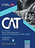 CAT 2021 : 31 Years' Topic-Wise & Year-Wise Solved Papers 1990-2020