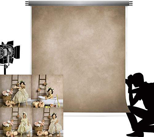 Kate 1,5x2,2m Foto Hintergrund Hellbraun Fotohintergrund Mikrofaser Foto Kulisse für Fotografie Verschwommene abstrakte antiken Hintergrund