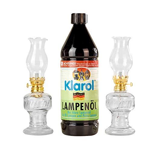 Chaps Merchandising GmbH -  2x Öllampe aus Glas