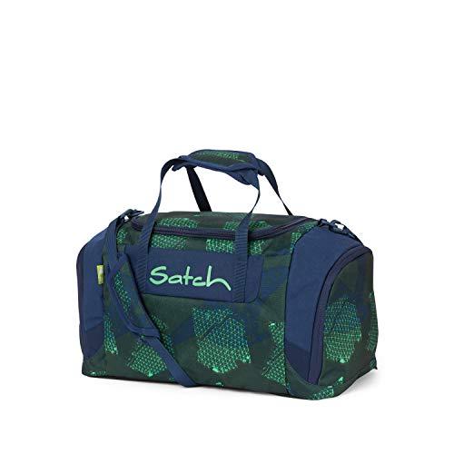 Satch Infra Sporttasche, Unisex Kinder, Blue/Green/Neon, 25 l