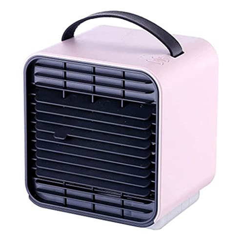 Refrigeradores evaporativos Ventilador de aire acondicionado portátil, Mini Ventilador de enfriamiento de espacio personal USB, purificador de humidificador de refrigerador de aire evaporativo pequeño