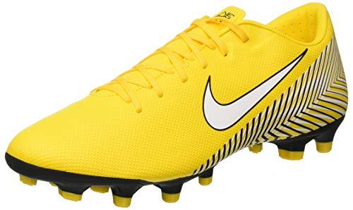 Nike Vapor XII Academy Neymar MG, Zapatillas de Fútbol Hombre, Amarillo Amarillo White Black 710, 45 EU