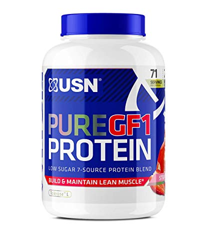 USN Pure Protein GF-1 Protein Shake, Strawberry, 2 Kg