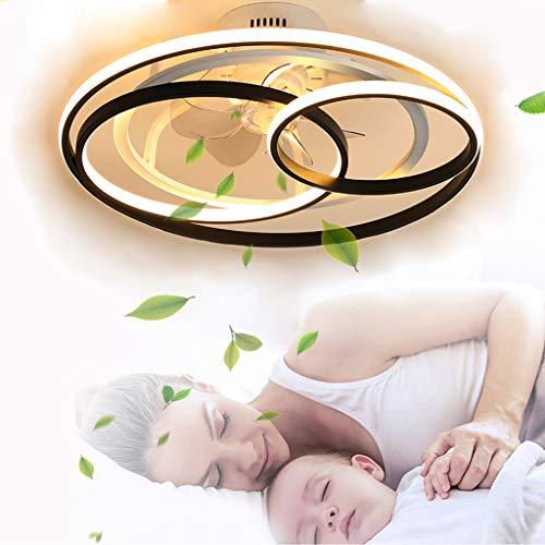 Lámpara de ventilador LED con iluminación Ventilador invisible creativo Luz de techo Control remoto Regulable Ventilador ultra silencioso Lámpara de dormitorio Ventilador de techo con lámpara
