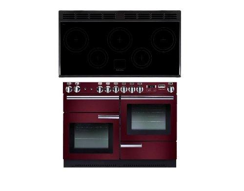 Falcon Professional + 110 Range Cooker Kochfeld mit Induktionskochfeld A rot – Backofen und Herd (Herd, rot, drehbar, vorn, elektronisch, LCD)