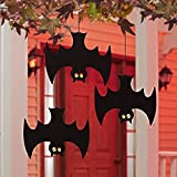 Glow in The Dark Decorative Hanging Bats for Outdoors - Set of 3