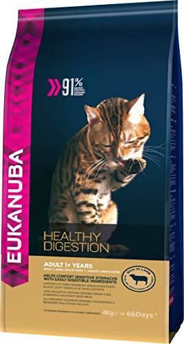 Eukanuba Spezialfutter für Katzen, Premium Trockenfutter, abgestimmt auf die besonderen Bedürfnisse von Katzen mit sensible Verdauung, 4 kg