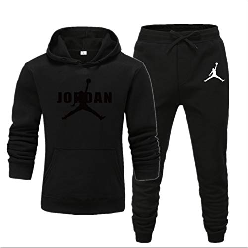 Chicago Bulls # 23 Jordones Jordan Mens Tacksuit Sets, Sudadera y Pantalones Jogging, Jogging Slim Fit, Running Sportswear, Regalos para Fans (S-XXXL) Jordan17-L