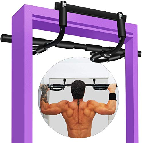 LINODI Pull up Bar for Doorway, Pullup Chin up Bar Doorway No Screws, Multifunctional Strength Training Pull-up Bars Trainer, Door Exercise Equipment Body Gym System Trainer