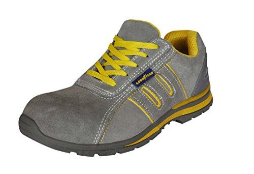 Goodyear - G30513Zapatos de prevención de riesgos laborales para hombre, S1P, 45, gris, 1