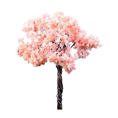 display08 3Pcs Mini Lovely Cherry Blossoms Miniature Landscape Bonsai Ornament Dollhouse Decor 3pcs