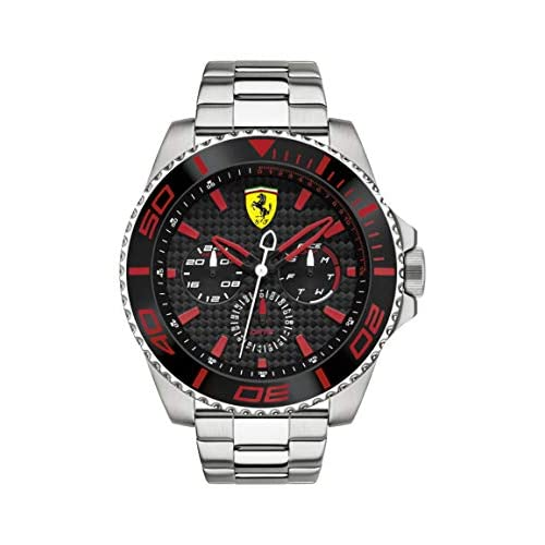 Orologio da uomo al quarzo, quadrante classico analogico e cinturino in acciaio inossidabile, Scuderia Ferrari 0830311