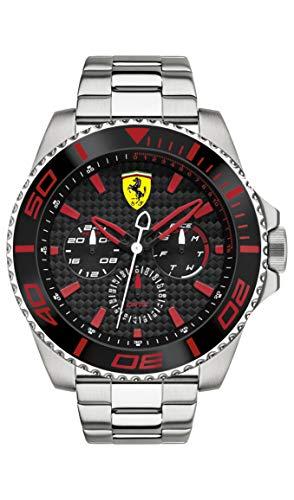 Ferrari 0830311 XX Kers - Reloj analógico de pulsera para hombre (cuarzo, correa de acero inoxidable)