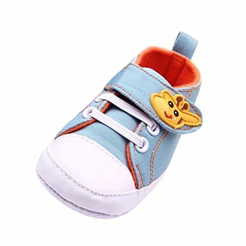 Zapatos Bebe,Fossen Suela Blanda Primeros Pasos del Antideslizante para Recién Nacido Niña Niño (6-12 Meses, Azul)