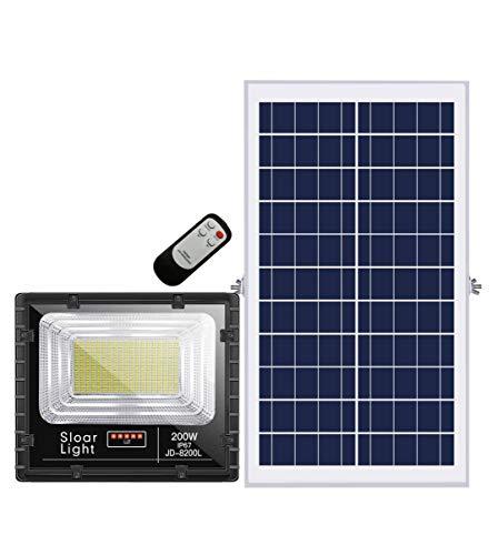 Projecteur extra plat LED Solaire Blanc Froid de 10W,25W,40W,60W,100W,200W au choix étanche (IP65) - 100W/4460Lms