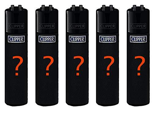Clipper Original Lighter Flints 4 Set + 1 Überraschungsclipper Feuerzeug All u Need Schlüsselanhänger Flaschenöffner (Surprise Set)