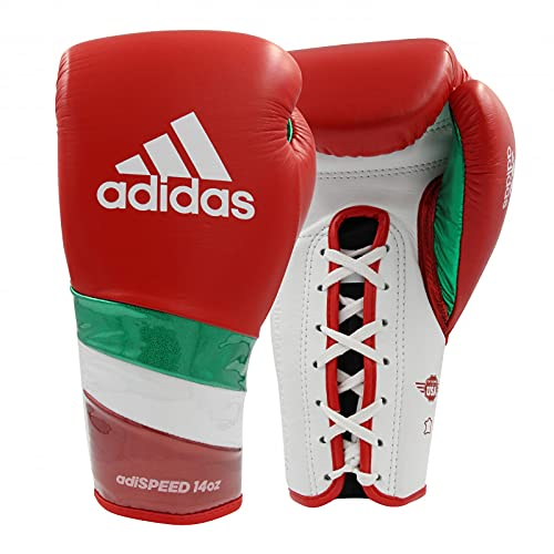 adidas Adi-Speed 500 Pro Boxing Gloves - for Boxing, Kickboxing, & Sparring - Traditional Lace-up...