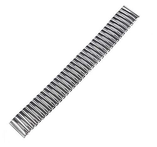 ZJSXIA Reemplazo de Acero Inoxidable Plata 18 mm Hombres Moda Pulsera Reloj Correa Correa Reloj Correa Correas de Reloj