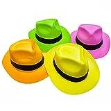 novità Luogo plastica Cappello, Neon Color, 24 pz