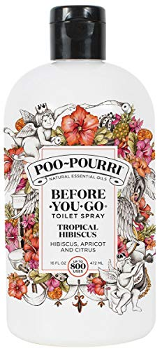 Poo-Pourri Before-You-Go Toilet Spray Refill(Sprayer Not Included), Tropical Hibiscus Scent, 16 oz