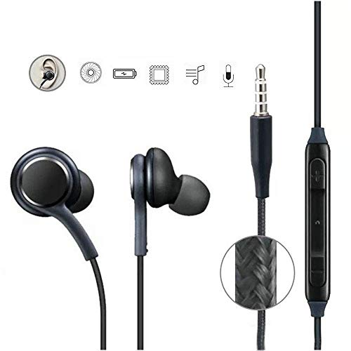AKG Headphone Earphones for Coolpad TipTop Air Earphone Wired Stereo Deep Bass Head Hands-free Headset Earbud With Built in-line Mic, Call Answer/End Button, Music 3.5mm Aux Audio Jack (AKG KY1, Black)