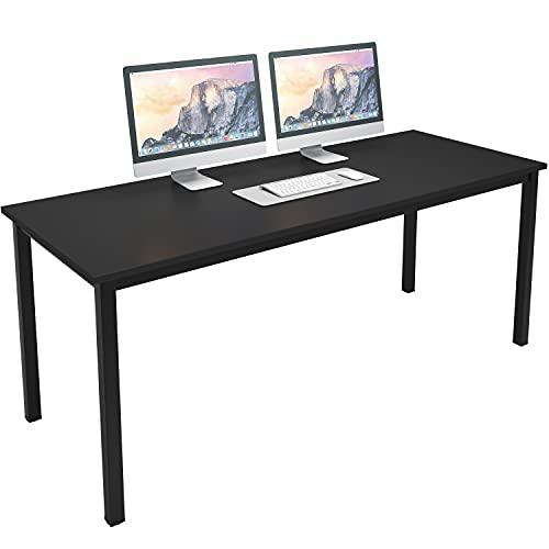 SogesPower Schreibtisch im Industriestil, Kleiner Computertisch, PC-Tisch Bürotisch Arbeitstisch Officetisch für Home Office Schule Klappbar, Stabil...