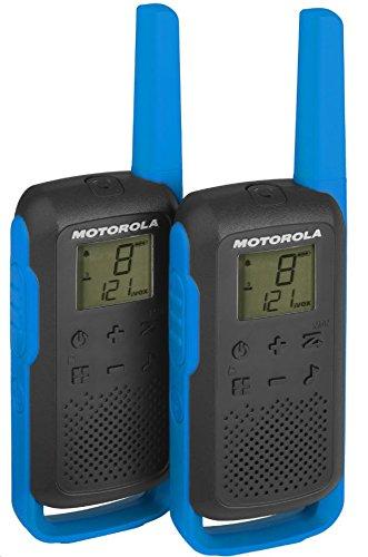 Motorola Talkabout T62 PMR-Funkgeräte (2er Set, PMR446, 16 Kanäle und 121 Codes, Reichweite 8 km) blau