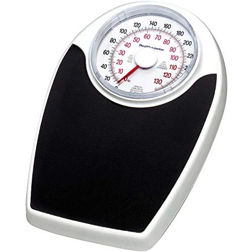 Health O Meter Floor Scale 330 x 1 Pound/150 x 0.5 Kilogram 11-1/2 x 10-3/4 Plat. W/ 6-1/2