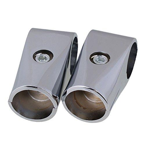 Yibuy 2pcs 32mm ID Display Rack Abrazadera Accesorios Andamio Tubo Compuesto Conector...