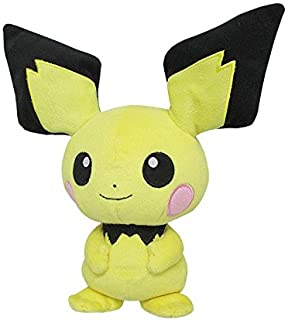 Sanei Pokemon All Star Collection Pichu Stuffed Plush Toy, 8.5""