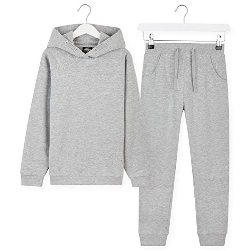 CityComfort Boys Tracksuit Hoodies And Joggers For Kids 3 14 Years Light Grey 9 10 Years