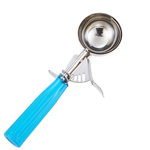 Portion Scoop  #16 2 oz  Disher Cookie Scoop Food Scoop  Portion Control  18/8 Stainless Steel Blue Handle