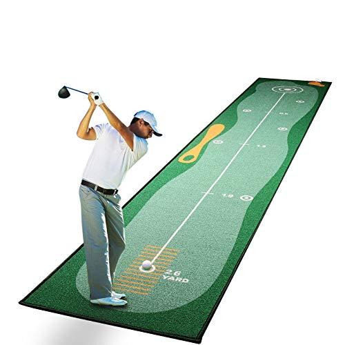 Qdreclod Alfombras de Putting para Golf 0.5 * 3m, Estera Profesional para Practicar Golf en Casa, Colchoneta de Entrenamiento de Golf Portátil para Patio Interior y Exterior