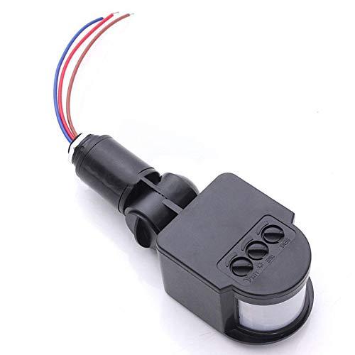 Cicony - Interruttore con sensore di movimento, 110-220 V, a infrarossi, 180 gradi, per rilevatore di illuminazione da esterni