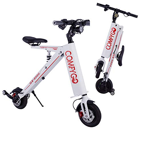 MAJESTIC BUVAN 2021 New Foldable Lightweight E Cycle - Li-on Battery Power Mobility Easy Travel Electric Multi Terrain Bike for Adults, Kids, Youths