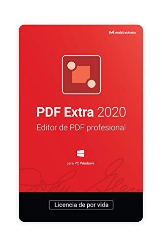 PDF Extra 2020 – Editor Profesional de PDF – Edita, Protege, Anota, Completa y Firma archivos PDF - 1 PC / 1 Usuario / Suscripción de Por Vida