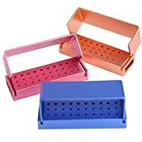 3PCS 30 Holes Dental Disinfection Burs Block Holder Case Opening Box Dental Lab Aluminium Bur Case Organizer Instrument.