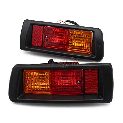 Rumors Coche Trasero Bumper Niebla Marcar Marcar Luz Fit For Toyota Land Cruiser Prado (90) 1997 1998 1999 2000 2001 2002 Luces de Cola roja LED (Color : 1pair Left and Right)