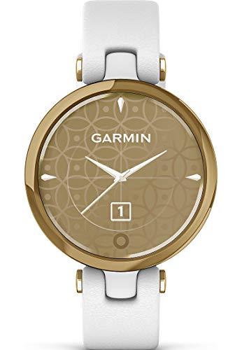 Reloj Inteligente Garmin Lily de Mujer Dorado con Correa Blanca, 010-02384-B3.