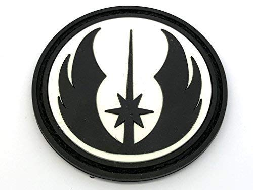 Patch Nation Star Wars Order of The Jedi Leuchten im Dunkeln PVC Airsoft Paintball Klett Emblem Abzeichen