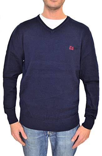 Ridebike Jersey Cuello de Pico Logo La Vespa | Color Azul Marino | 100% algodón | Custom fit (130) (S)