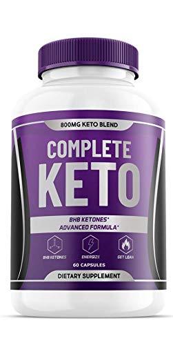 Complete Keto BHB Pills - 800MG Keto Blend - BHB Ketones, Advanced Formula (60 Capsules - 1 Month Supply) 1
