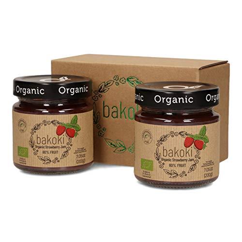 Bakoki® Premium BIO Erdbeere Konfitüre 80% Obst ( 2 x 200g)