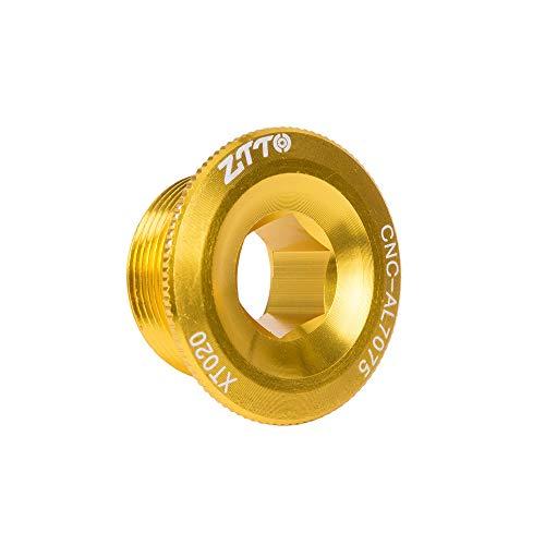Szkn ZTTO - Copertura per piastra dentale per pedivella MTB guarnitura pedivella in alluminio BMX, dorato, M