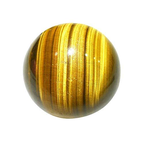 Adivinación con Bola de Cristal Bola Amarilla Oscura Esfera de Cuarzo Cristal DE Cristal DE CURANDO CRATAMIENTO DE Bola Decorativa 25MM Bola de Cristal