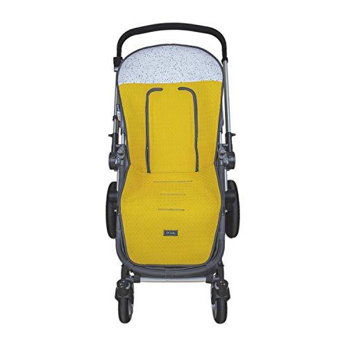 Colchoneta o funda de Paseo para silla Universal Rosy Fuentes en color amarillo