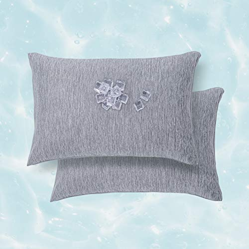 Bedsure Cooling Pillow Cases 20x26 inches - Standard Pillow Cases Set of 2 for Night Sweats and Hot Sleepers