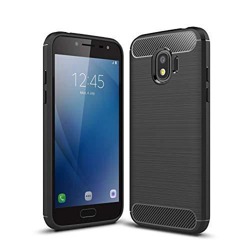 cookaR Funda Samsung Galaxy J2 Pro (2018), Funda Samsung Galaxy J2 Pro (2018) Funda Protectora Ultra Thin Silicona de Silicona Suave para Samsung Galaxy J2 Pro (2018) Funda(Negro)