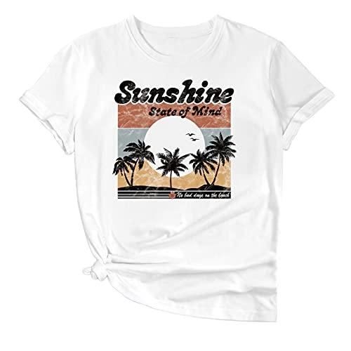 Zzx T-Shirt à Manches Courtes Rayon Sun Rainbow Trial Transfert de Chaleur Femme Mode Femme Mode Brand Casual Sleeve T-Shirt Rayon Respirant Top Nouveaux Produits 2021 (Color : B, Size : M)